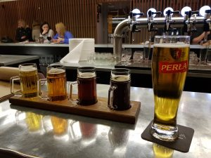 Lublin Spooky Walking Tours | a fly of local Perła beer